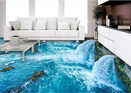 BZDHWWH 3D Stereoscopic Floor Wallpaper Ocean World 3D Flooring Hd Custom Vinyl 3D Floor Landscape Wallpaper,110Cm X 160Cm by BZDHWWH