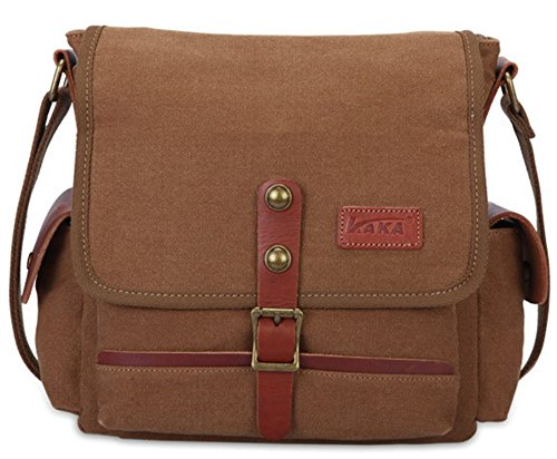 Shoulder Korean Men Business Diagonal Crossbody Otomoll Retro Bangalor Casual Coffee Satchel Canvas Bag xw8qvS8g0