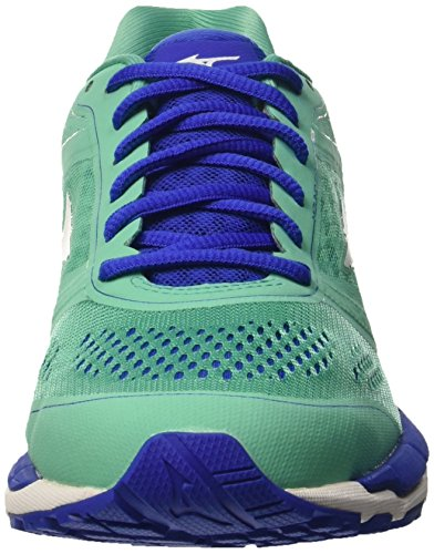 Mizuno Mizuno Synchro Mx - Zapatillas de running Mujer Verde - Green (Electric Green/White/Dazzling Blue)