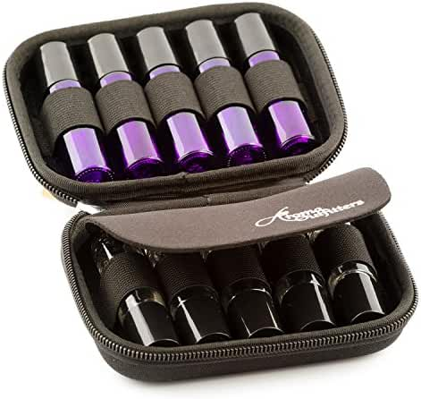 Essential Oil Carrying Case - Multiple Colors - Protects TEN 10ml Roller Bottles - (Can hold 10ml, 10ml Rollers, & 5ml) Travel Bag Organizer works with Young Living, doTERRA, and more