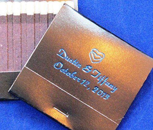 50 personalized matchbooks wedding favors custom printed matchbooks bridal -