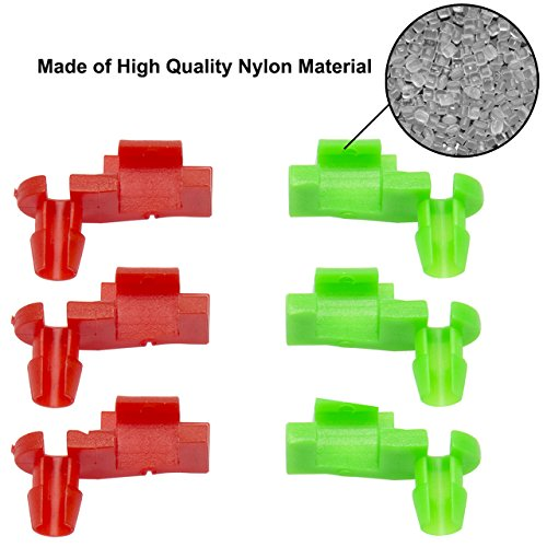 DEDC 1999-2007 Chevy Silverado GMC Sierra Tailgate Rod Clip Right Left OEM Replacement Pair Red(L) 88981031 Green(R) 88981030 3 (Left Side Oem Replacement)
