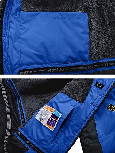 Wantdo Men's Waterproof Mountain Jacket Fleece Windproof Ski Jacket US M Sky Blue M