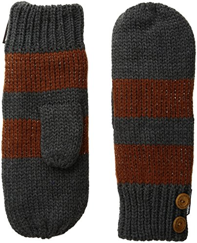 Muk Luks Women's Pennies From Heaven Mittens-Metallic Stripe, Pewter, One Size