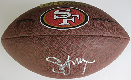(Steve Young, San Francisco 49ers, Signed, Autographed, 49ers Logo Football, a COA with the Proof Photo of Steve Signing Will Be Included)