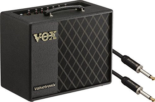 Vox Amplification (VOX VT20X 20W Guitar Modeling Amplifer w/ 10' Classic Series Instrument Cable)