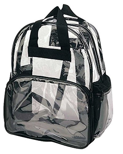 Main Zippered Pocket (ProEquip Travel Bag Clear Unisex Transparent School Security Backpack)