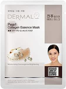 Dermal Pearl Collagen Essence Full Face Facial Mask Sheet
