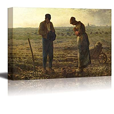 With Expert Quality, Beautiful Creative Design, The Angelus by Jean Francois Millet Print Famous Painting Reproduction