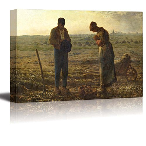 The Angelus by Jean Francois Millet Print Famous Painting Reproduction