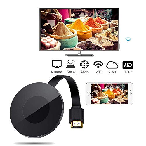 (TraderPlus Wireless WiFi Display Dongle, 1080P HDMI TV Miracast DLNA Airplay Receiver Screen Mirror Adapter for iOS/Android/Windows/Mac)