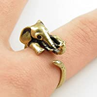 Ransopakul Silver Women Animal Cute Lucky Elephant Ring Silver Plated Elephant Ring