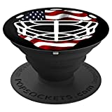 Hockey PopSocket American Flag Goalie Gift - PopSockets Grip and Stand for Phones and Tablets