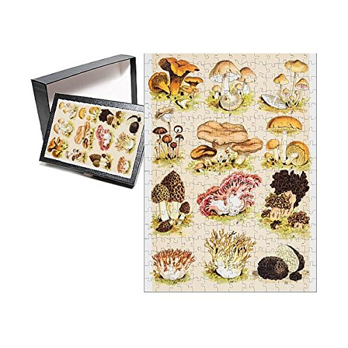 Media Storehouse 252 Piece Puzzle of Edible Mushrooms Antique Chromolithograph 1884 (13613257)