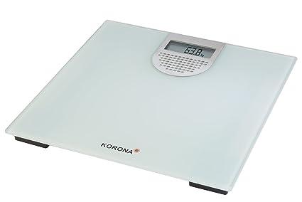 Korona Sonja Báscula Personal electrónica Plaza Gris, Plata - Báscula de baño (Báscula Personal