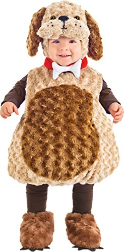 Underwraps Costumes Toddler Puppy Costume - Belly Babies Furry Puppy Costume, Large (2-4) 2018