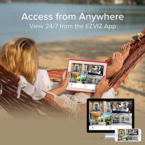 EZVIZ FULL HD 1080p Outdoor Surveillance System, 4 Weatherproof HD Security Cameras, 4 Channel 1TB DVR Storage, 100ft Night Vision, Customizable Motion Detection by EZVIZ (Image #4)