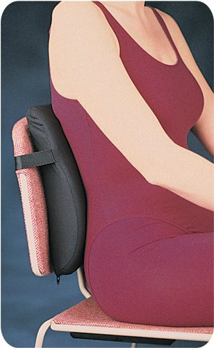 Rolyan Low Profile Back Cushion, Tapered Cushion with Adjustable Strap for Lower Back Pain Relief, Lumbar Support, Backrest for Car Seat, Office Chair, Pillow for Posture & Comfortable Spine Position