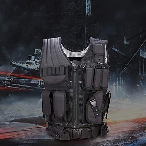 beautygoods Veste Tactique extérieure Costume d'armée de Campagne, Paintball Gaming Gilet Équipement Protecteur pour la… 4