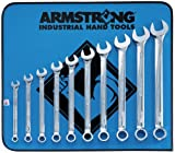 Armstrong 25-637 12 Point Full Polish Long Combination Wrench Set, 10 Piece