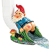 Collections Etc Mooning Gnome Funny Downspout Extender Cover Decoration