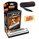Hohner Special 20 Harmonica Bundle with Carrying Case - Key of C