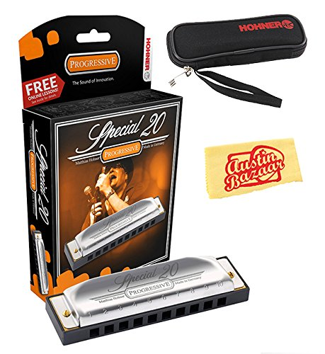 hohner-special-20-harmonica-key-of-c-bundle-with-carrying-case-polishing-cloth