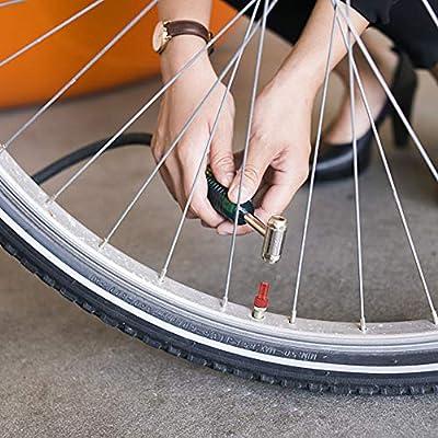 6 Pc Aluminum Bicycle Bike Valve PRESTA to SCHRADER Converter Car Valve Adapter