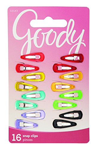 Baby Snap Hair Clips - Goody Girls Classics Mini Epoxy Contour Clip, 16 Count