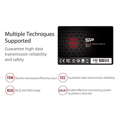 Silicon Power/Marvell Controller 240GB S57 (SLC Cache Boost with Read up to 500 MB/s) SATA III Internal Solid State Drive- Free-download SSD Health Monitor Tool Included by Silicon Power (Image #6)