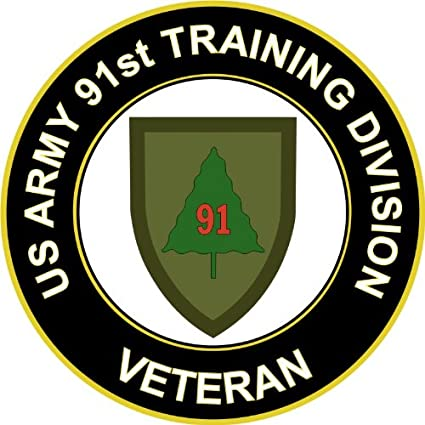 MilitaryBest US Army Veteran 91st Training Division Sticker Decal 55quot