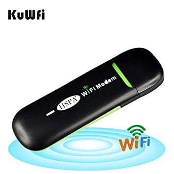 KuWFi Unlocked Smart 3G USB Mobile Hotspot WiFi Dongle Mini USB WiFi  Hotspot Router Data Card with Wi-Fi 3G WiFi Modem SIM Slot Router use for  Car SIM