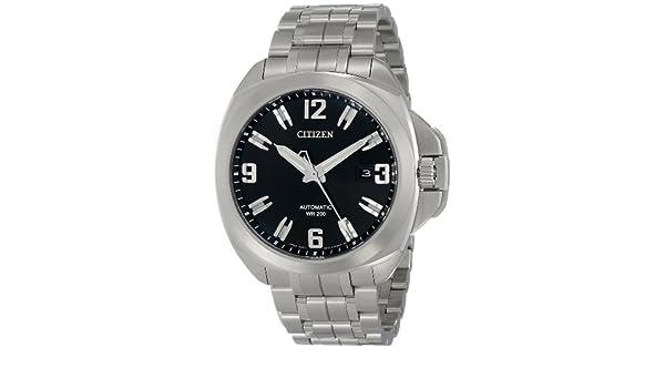 Citizen NB0070-57E - Reloj de Pulsera Hombre, Acero Inoxidable, Color Plata: Amazon.es: Relojes