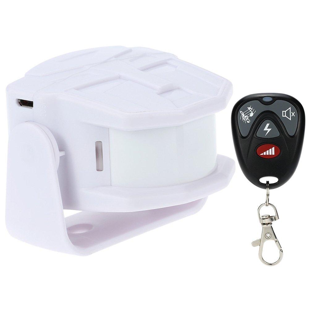 KKmoon Timbre para Puerta Alarma Sensor Infrarrojo Inalámbrico MP3 Bienvenido Invitado Detector de Movimiento Seguridad Hogar Tienda con Mando a Distancia: ...