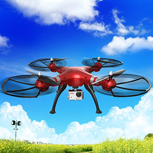 Safstar Syma X8HG 8.0 MP HD Camera Drone 2.4Ghz 4CH 6-Axis Gyro Remote Control Quadcopter with Altitude Hold and Headless Mode 3D Flips