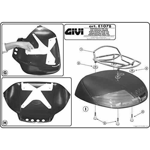- GIVI E107B Top Case Rack for V46 Topcase