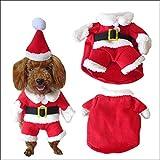 NACOCO Pet Christmas Costumes Dog Suit with Cap Santa Claus Suit Dog Hoodies Cat Xmas costumes