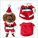NACOCO Pet Christmas Costumes Dog Suit with Cap Santa Suit Dog Hoodies (X-Large)