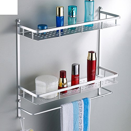 60%OFF Space aluminum bathroom racks/Cosmetics/Linked to the bathroom with towel bar pendant-A
