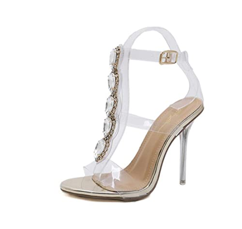 new concept 0a205 e517c DANDANJIE Sandali da Donna Estate Sexy Scarpe di Lusso Tacco ...