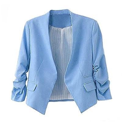 Voinnia Women's Folding Sleeve Office Blazer