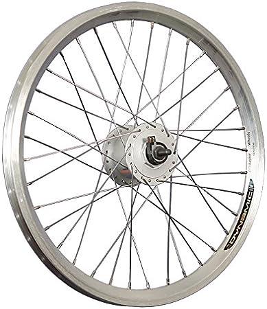 Taylor-Wheels 20 Pulgadas Rueda Delantera Bici Dynamic4 DH3N31 Dinamo buje plat.: Amazon.es: Deportes y aire libre