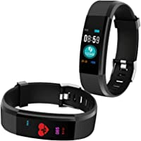 Bingo Fitness Band, Activity Tracker with Heart Rate Monitor,iP67 Waterproof Smart Watch Bracelet Color Screen Sleep Monitor Fitness Tracker for Android or iOS Smartphones