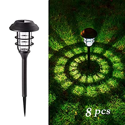 GIGALUMI 8 Pcs Solar Lights Outdoor Pathway, Waterproof Led Solar Lights for Lawn?Patio?Yard?Garden?Path?Walkway or Driveway.