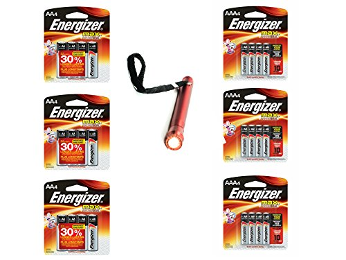 Energizer Max AA 12 Count Pack + AAA 12 Count Pack + Free Gifts Included