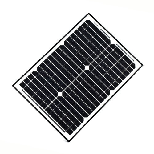 Watt Solar Panel Electric (ALEKO SPU20W12V 20 Watt 12 Volt Monocrystalline Solar Panel for Gate Opener Pool Garden Driveway)