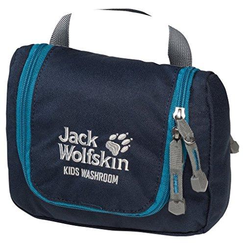 Jack Wolfskin Kid's Washroom Wash Bag Toiletry Bag with Hanger Hook, Midnight Blue ()