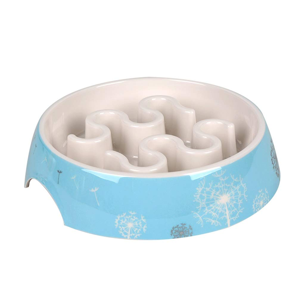 C Anti-Gulping Dog Bowl Slow Feeder,Porcelain Pet Bowl,Feeding Stations,for Dogs Cats and Pets,Interactive Bloat Stop Pet Bowl for Fast Eaters (color   C)