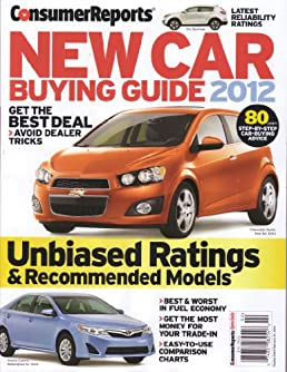 consumer reports new car buying guide 2012 unbiased ratings rh amazon com Consumer Reports Electronics Consumer Buying