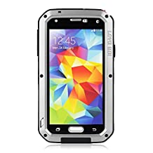BB-YuHan Love MEI Samsung Galaxy S5 Case Aluminum,3-layer Corning Gorilla Glass Aluminum Metal Protective Samsung Galaxy S5 Case (Silver)